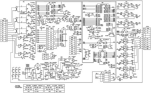 принципиальная электрическая схема телефона