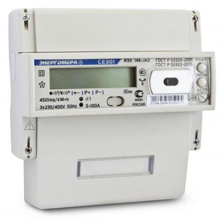 Электросчетчик Энергомера CE301 R33 146-JAZ  5(100)А/400В трехфазный, многотарифный