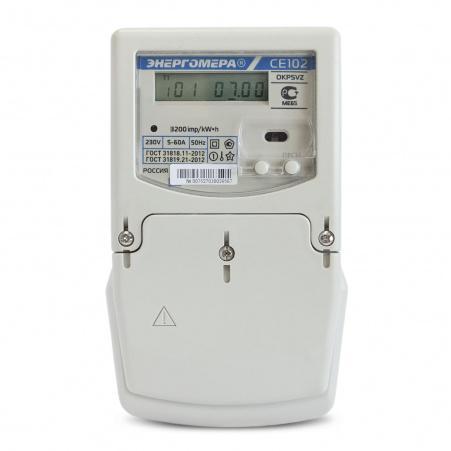 Электросчетчик Энергомера СЕ102М S7 145- AV 5(60)А/230В однофазный, многотарифный