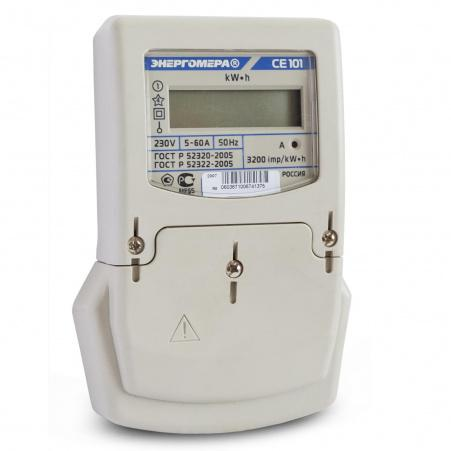 Электросчетчик Энергомера CE101 S6 145 5(60)А/230В однофазный, однотарифный