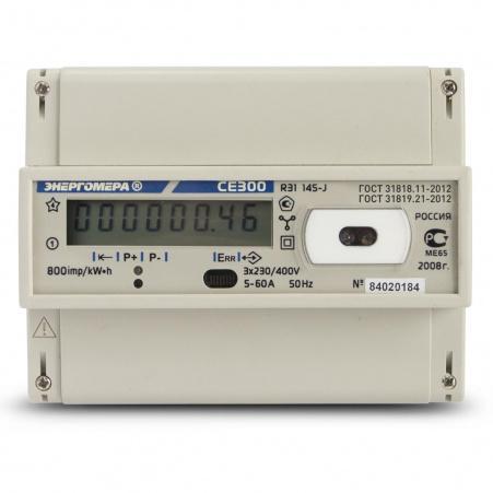 Электросчетчик Энергомера CE300 R31 145-J 5(60)А/400В трехфазный, однотарифный