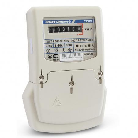 Электросчетчик Энергомера CE101 S6 145 M6 5(60)А/230В однофазный, однотарифный