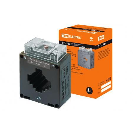 Трансформатор тока измерительный ТТН 40/600/5- 5VA/0,5S-Р TDM