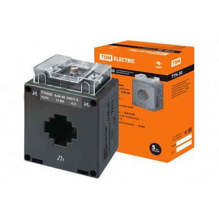 Трансформатор тока измерительный ТТН 30/200/5-10VA/0,5-Р TDM